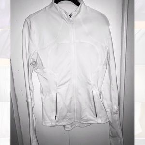 Lululemon White Sports Stretch Zip up Sweater sz S